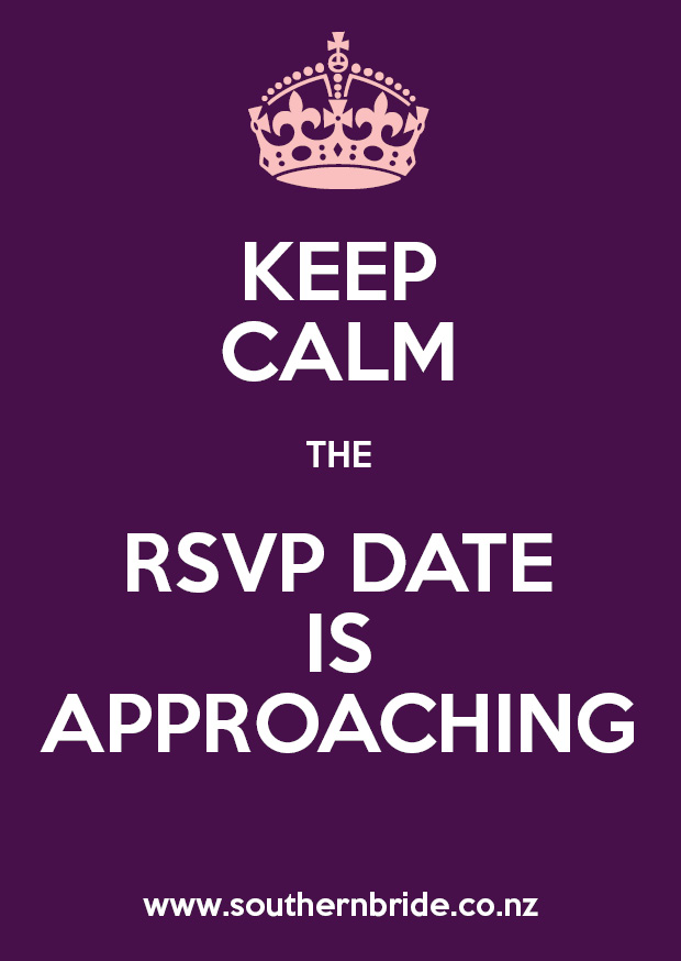 Keep Calm the RSVP Date is Approaching Meme