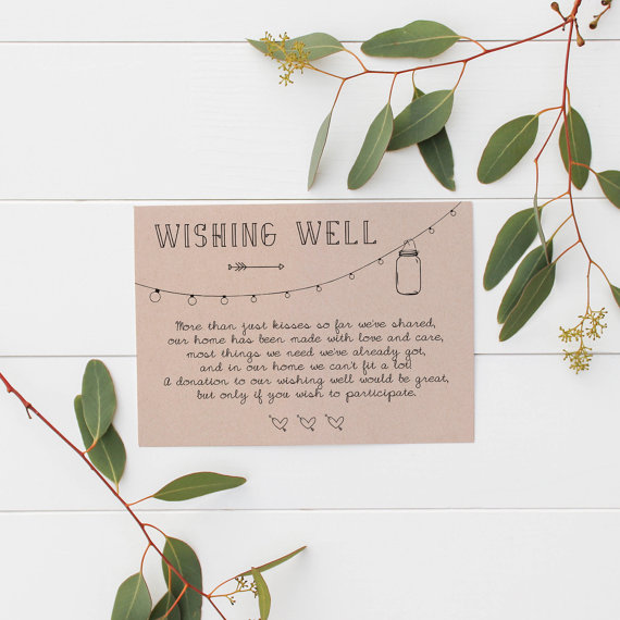 Wedding Gift Card Quotes: Non-tacky Wishing Well Poems And Sayings: Asking For Money