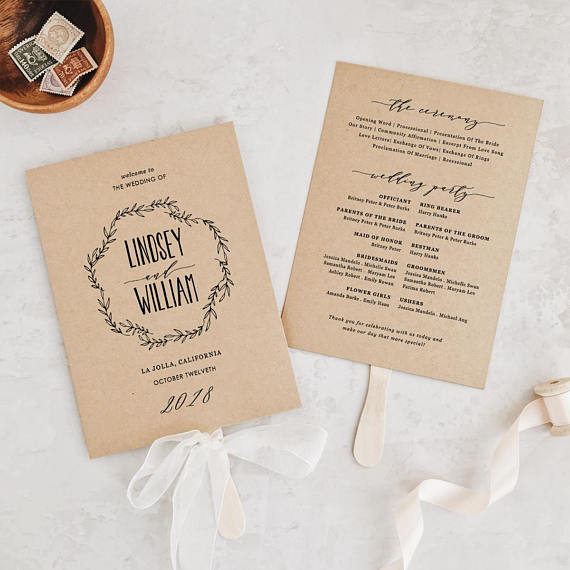 Wedding Order of Service Wording Template: What to include & examples!