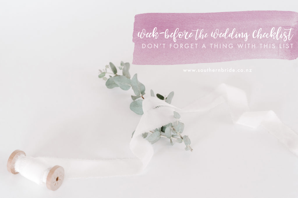 last minute wedding planning checklist