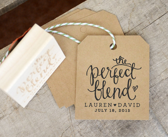 the perfect blend tea wedding favour