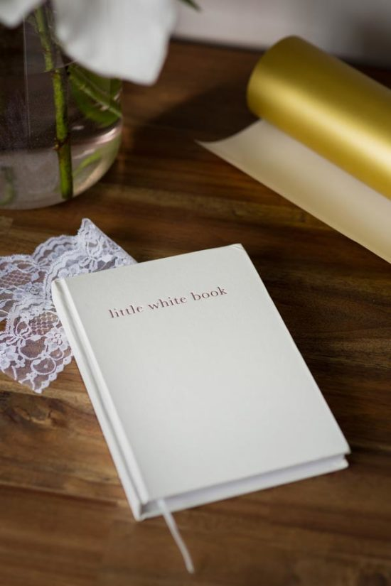 little white book wedding planning diary