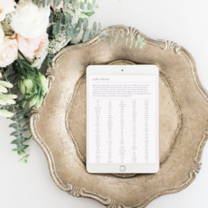 wedding planning templates and checklists