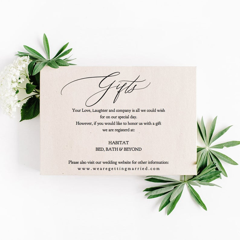 Registry Cards For Wedding Invitations Fitbo Wpart Co