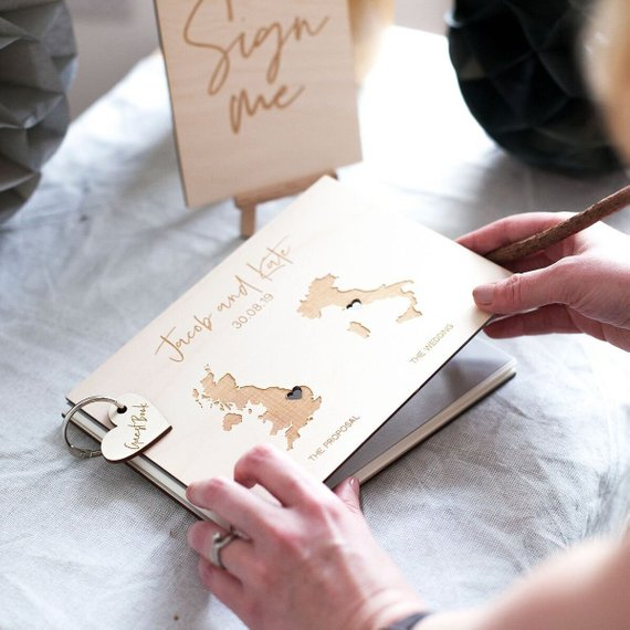 destination wedding guestbook idea