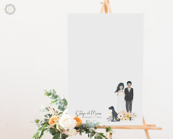 modern guestbook for wedding