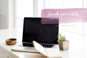 thank you card wording templates
