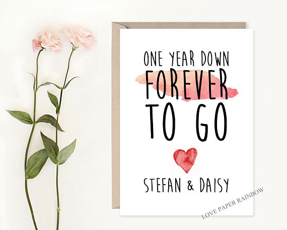 More Ideas For First Wedding Anniversary Cards Here