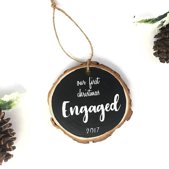 Engagement Ornament, Unique Engagement Gifts, First Christmas ...